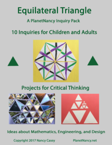 Equilateral Triangle: 10 Inquiries for Children and Adults. Cover image